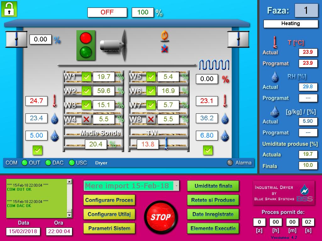 Dehydrator automation